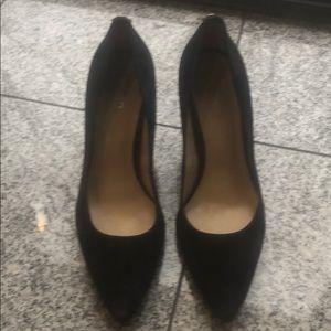 Michael Kors navy blue suede heels, size 8